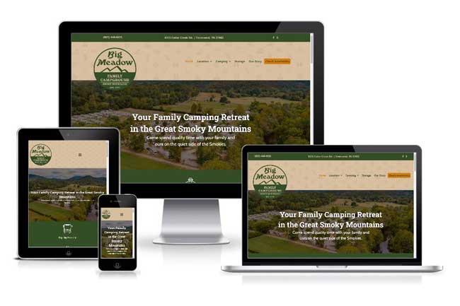 Big Meadows Responsive Website